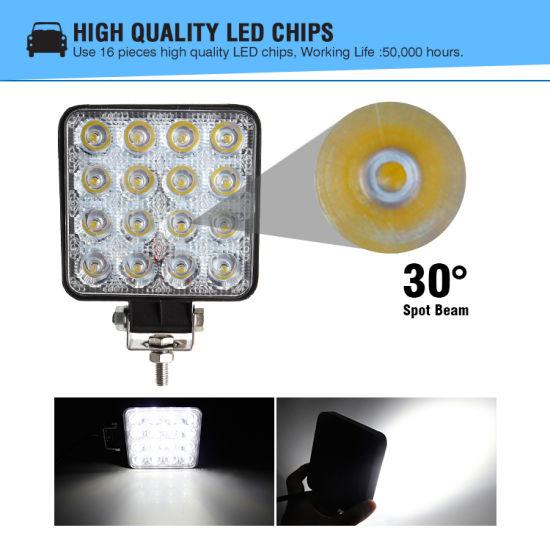 LED Work Light 18W 27W Spot//Flood Light for Car Boat Offroad Lamp SUV//ATV Truck