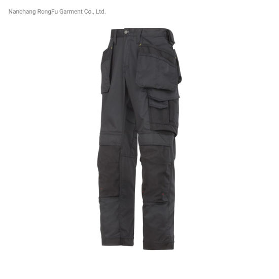 Pure Color Repair Machine Maintenance Multi-Functional Pockets Men and Women Work Pants