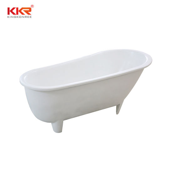 Modern Solid Surface Color Selection Clawfoot Bathtub pictures & photos