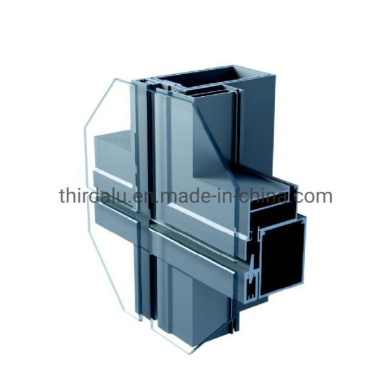 Aluminum Extrusion Windows Doors and Glass Curtain Wall/Oxidation/Electrophoresis Aluminum Extrusion Profiles for Door/Window/Construction/Decoration