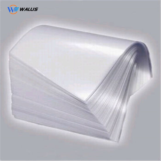 White Transparent Polycarbonate PVC Pet Plastic ID Card Coated Overlay Lamination Film for Laser Engraving Printing Card
