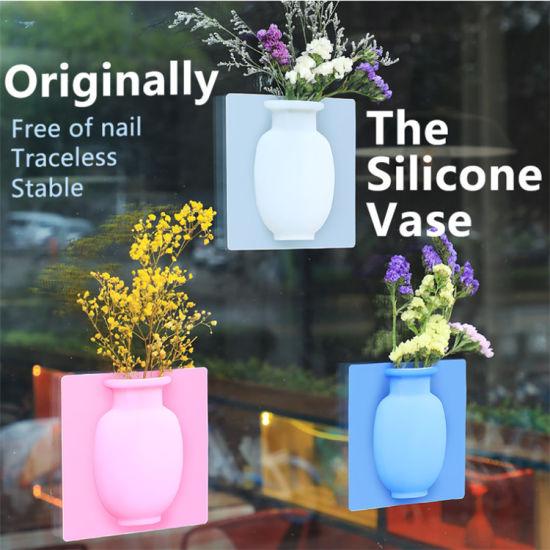 Wholesale Silicone Flower Pot Vase Indoor Home Decor