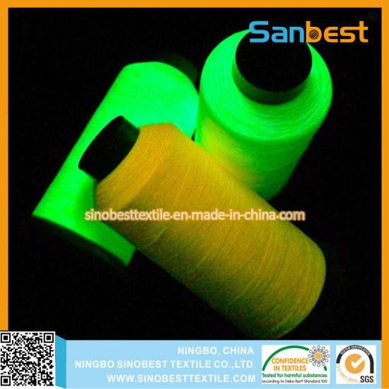 High End Glow-in-The-Dark Wholesale Embroidery Tassel Silk Thread for Weaving pictures & photos