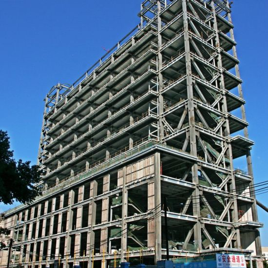 High Rise Prefabricated House Building Frame Construction Hotel Steel Structure