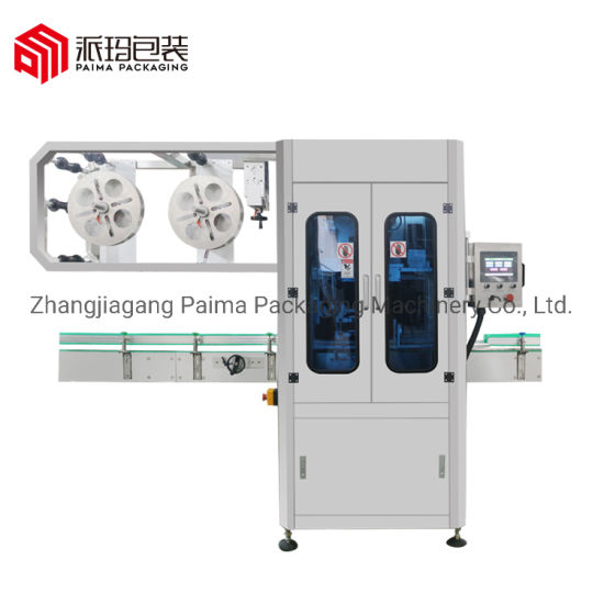 High Speed Plastic Glass Bottle Sleeve Shrink Labeling Packing Machine