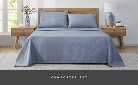 Yugland Wholesale Lightweight Super King Size Thin Bed Duvet Quilt Bedspread Comforter Set