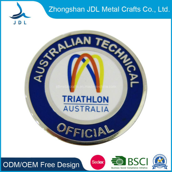 OEM Factory Price Customized Metal Hard Enamel 3D Red Crab Badge Lapel Pin (034)