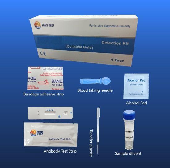 Rapid Diagnostic Test Igg/Igm Antibody Detection Kit Convenient Package