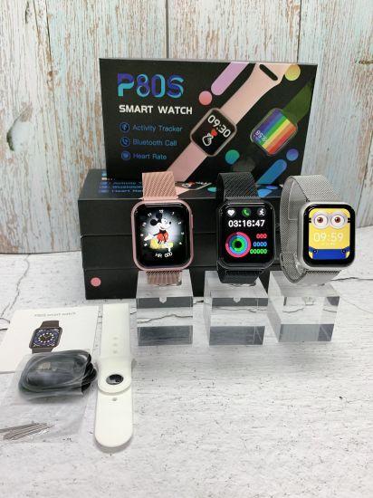 2021 Body Temperature Intelligent Bracelet Smart Watch for Men Multi-Function P80s Watch