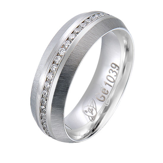 Fashion Jewelry 925 Silver White Gold Ring