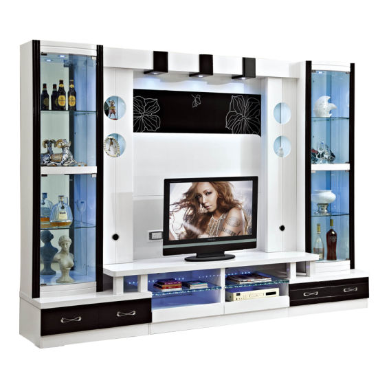 Chinese Factory Wholesale Price Tv Wall Unit Modern Tv Cabinet For Living Room China Tv Wall Unit Tv Cabinet