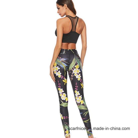 b7e3b47590 Women Yoga Pants Printed Leggings Sport Fitness High Waist Workout Tight  Gym Pants Sport Pants Running Trousers Yoga Leggings