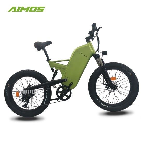 Double Suspension Mountain Fat Tire Electric Bike 2018