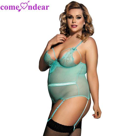 6c2f8f016 Plus Size Transparent Lace Sexy Women Teddy Lingerie - China Lingerie