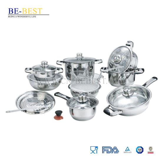 21PCS Stainless Steel Cookware Set