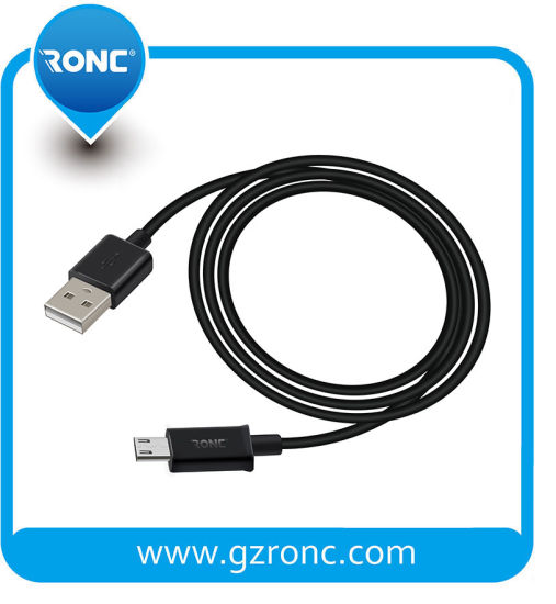 High Quality Black Fast Charge Micro USB Cable for Samsung Galaxy Android Mobile Phone
