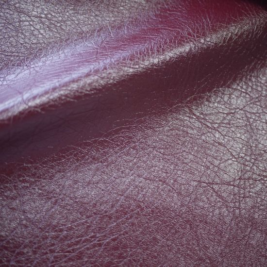 Glossy Vintage Embossed Synthetic PU Leather for Clothing Garment Textile Sofa Furniture Fabric