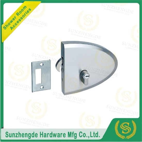 China Zinc Alloy Glass Cabinet Lock Glass Door Patch Lock China