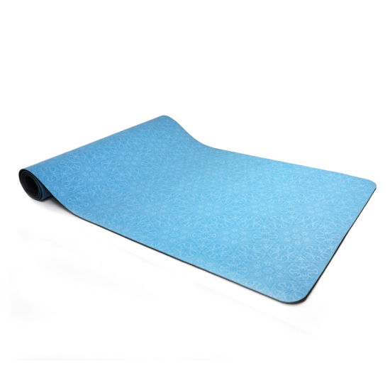 Wholesale   Factory Price Blue  Color Natural Rubber Yoga Mat for Women