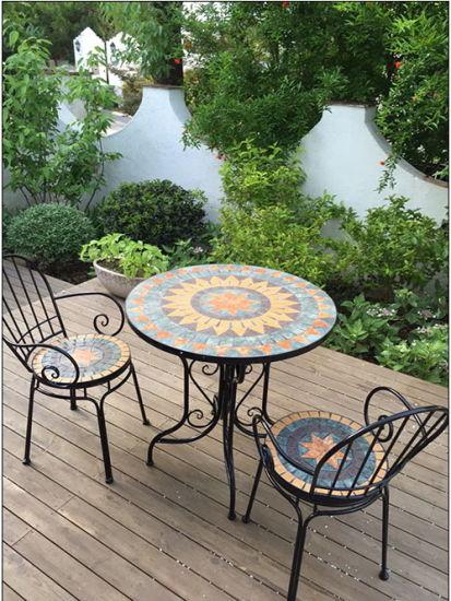 [Hot Item] Rural Style Mosaic Patio Furniture Outdoor Furniture