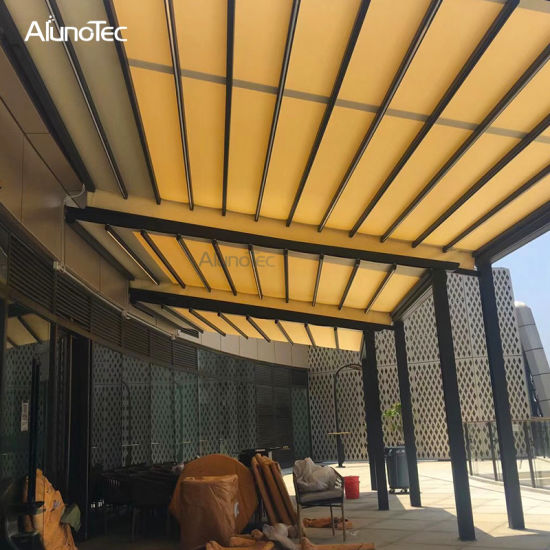 China Hot Selling Terrace Roof Covers Opening Aluminum