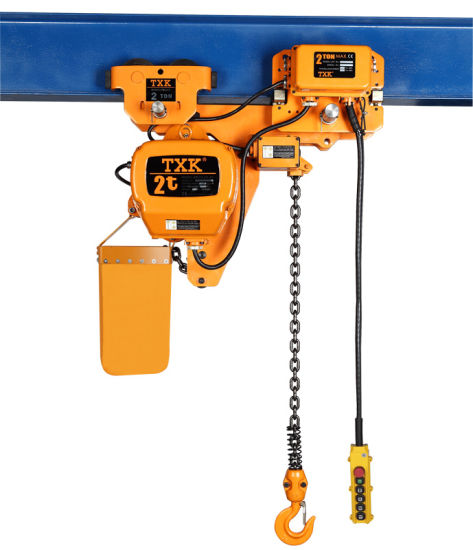 Low Headroom Hoist 2 Ton with Both Electric and Manual Trolley pictures & photos