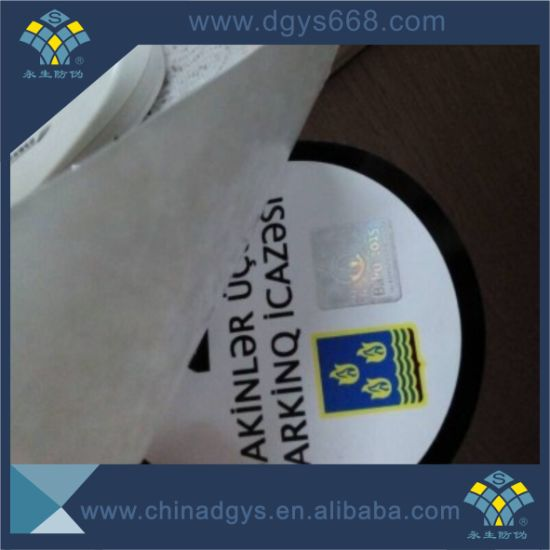 Anti-Fake Custom Die Cut Vinyl Window Car Sticker pictures & photos