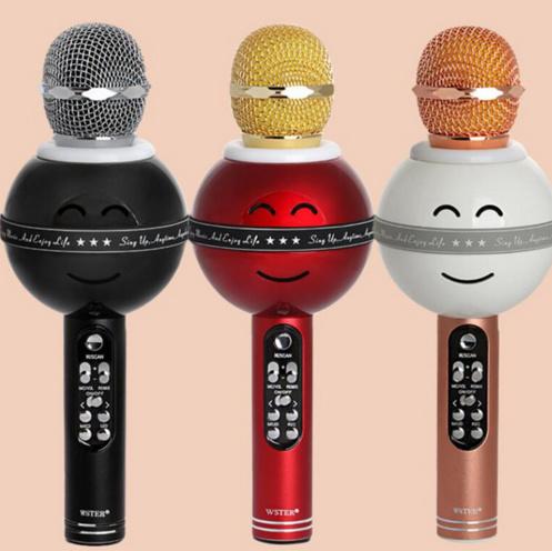 Ws878 Bluetooth Wireless Karaoke Microphone Handheld KTV Microphone with TF, USB, FM