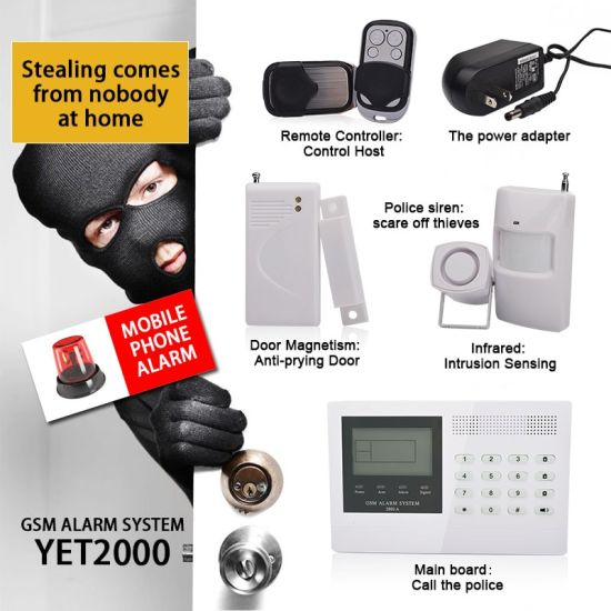 Intelligent GSM Home Burglar Alarm System Yet2000-GSM pictures & photos