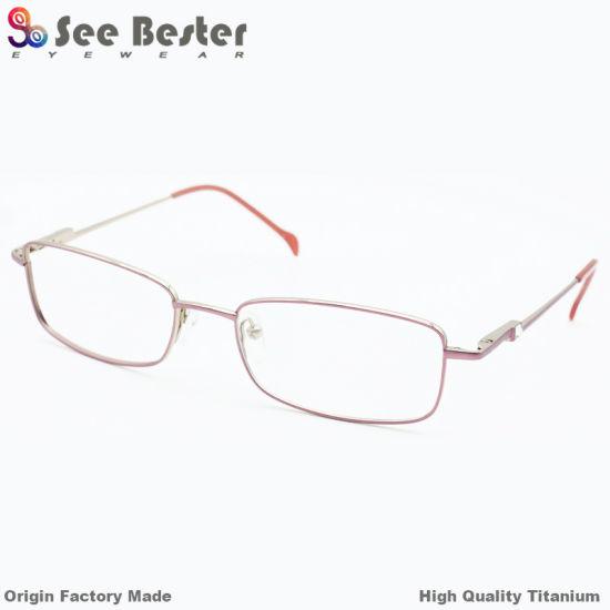 5c9e01685e3 2018 New Style Fashion Memory Optical Frames Eyewear Glasses Titanium 100%  Titanium High Quality Full Frame Optical Frame with Double Color   Diamond