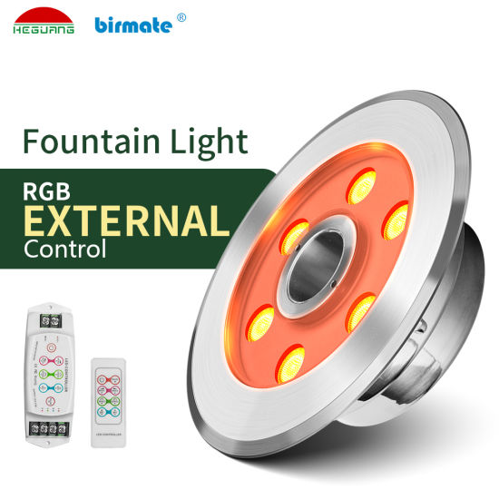 SS316L Stainless Steel External Control 6W 24V IP68 Structure Waterproof LED Underwater Fountain Pool Light