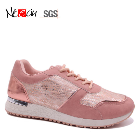 381f71ef0 Pink Fashion Female Shoes Ladies Sport Sneakers Wholesale China ...