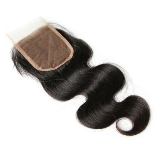 7A Virgin Peruvian Hair Lace Frontal Closure Body Wave with 4X4 Human Hair Ear to Ear Lace Closure pictures & photos
