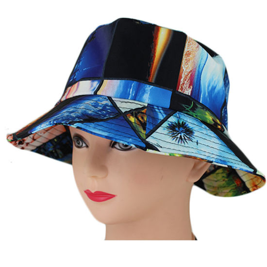 fade7c141be China Custom Colorful Tie Dye Cotton Floral Bucket Hat - China ...