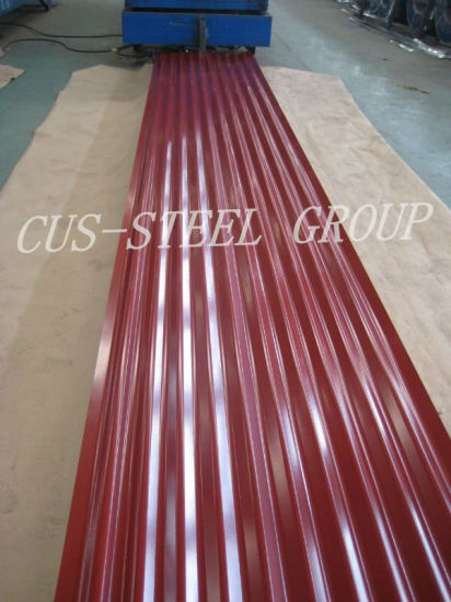 China Color Metal Roofs Color Coated Steel Roof Tile China Color Metal Roof Sheet Corrugated Steel Roofing Sheet