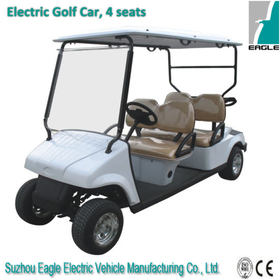 Electric Golf Car with 4 Seats pictures & photos