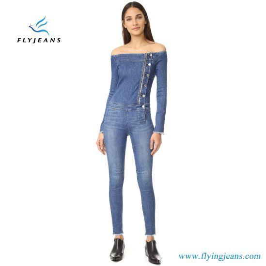 4dce94da1c5b7 China Fashionable Ladies Skinny Ovarall Leggings - China Girls Jeans ...