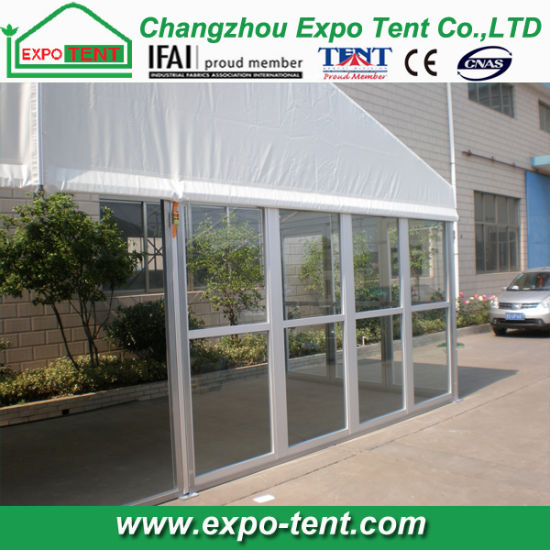Big Aluminum Frame Marquee Tent with Glass Wall pictures & photos