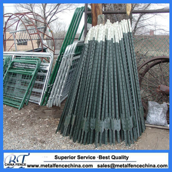 Green Painted 10 FT Metal T Post
