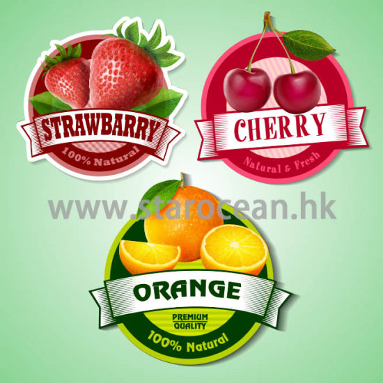 Customized Printing Strawberry Stickers Label