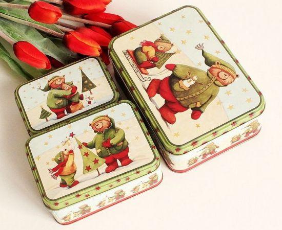 China Hot Sale Christmas Cookie Biscuit Tin Box China Tin Box Tin Can