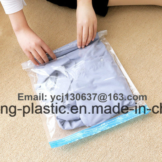 Plastic Space Bag Storage Bag for Quilt or Woolen Blanket to Save Space