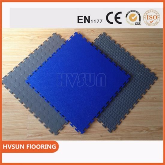China Noise Reduction PVC Garage Flooring Mats China PVC Garage - Noise cancelling flooring