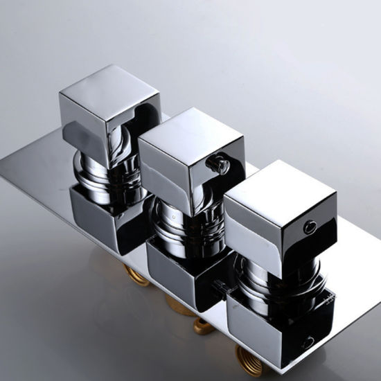 Concealed Thermostatic High Quality Chromed Plated Shower Faucet