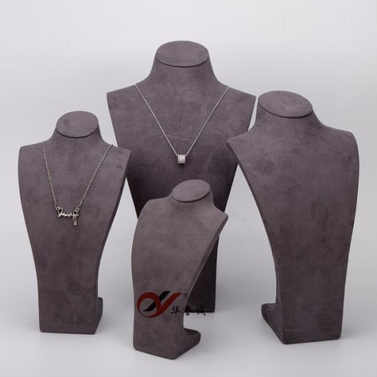 5 PCS/ Set Necklace Display Stand Holder in Resin & Suede