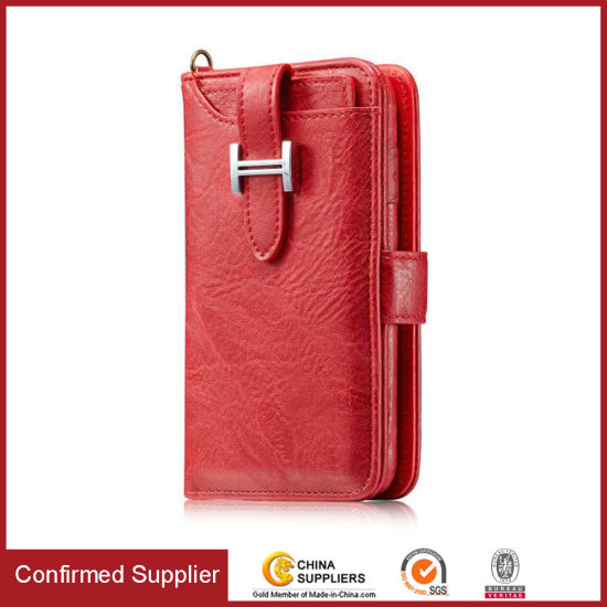Wholesale Card Slot Magnetic Separable Wallet Leather Phone Case for iPhone