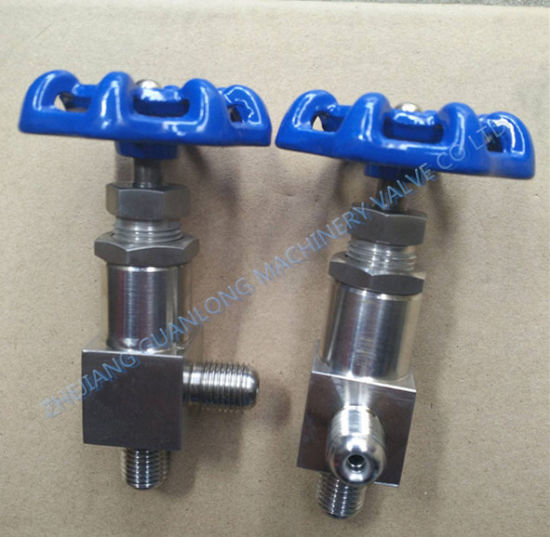 Angle Type Male Thread Needle Valve (J24H) pictures & photos