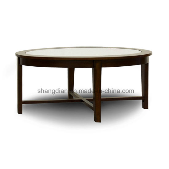 Hotel Public Area Furniture Cheap Unique Wooden Modern Round Coffee Side  Table (KL C07)