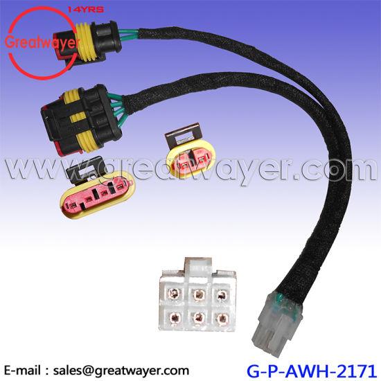 flat 4 pin wire harness bracket