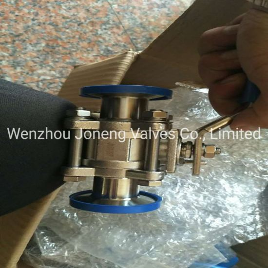 Joneng Stainless Steel Food Grade Clamped Three Pieces Ball Valve (JN-BLV2009)